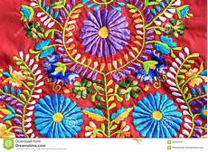 up of mexican embroidery design stock photo image