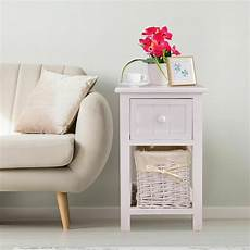stand 2 layer 1 drawer bedside end table organizer