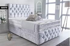 crushed velvet divan beds mattresses deals in shop