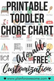 Toddler Chore Chart Free Printable Toddler Chore Chart With Free Personalization