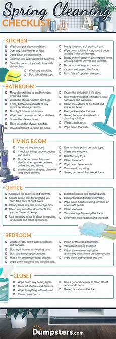 Cleaning Checklist By Room Your Ultimate Guide To Spring Cleaning Dumpsters Com