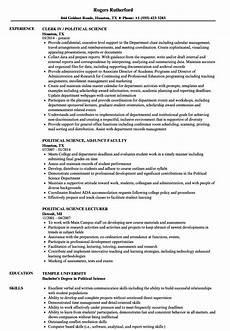 Political Resume Examples Political Science Resume Samples Velvet Jobs