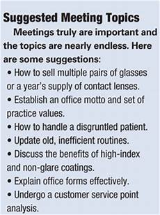 Office Meeting Topics Let Your Staff Run Your Staff Meetings