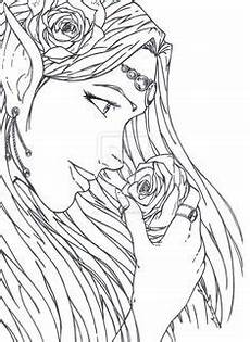 Elfen Malvorlagen Japanese Anime Coloring Pages Printablecolouringpages Co
