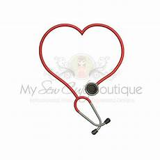 Stethoscope Designs Stethoscope Embroidery Design Heart Stethoscope Embroidery