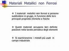 i metalli nella tavola periodica h materiali non ferrosi