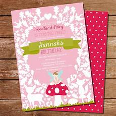 Fairy Invites Pink Woodland Fairy Invitation Enchanted Forest Fairy