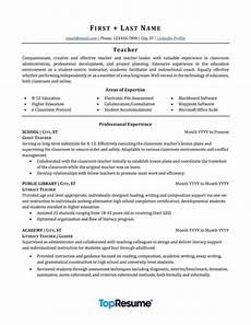 Teaching Resumes Samples Teacher Resume Sample Professional Resume Examples