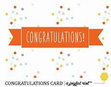 Congratulations Printable Card Congratulations Card Free Printable Friday A Joyful Riot