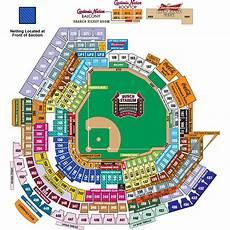 Cardinals Football Stadium Seating Chart Busch Stadium Netting St Louis Cardinals