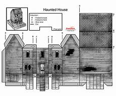 3d Paper House Cutouts Haunted House Cut Out Free Printable 3d Paper Model Template