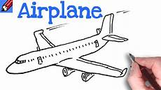 Airplanes Drawings Draw A Plane Real Easy Youtube