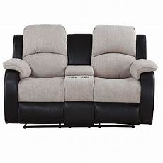 chicago two seater console electric reclining sofa