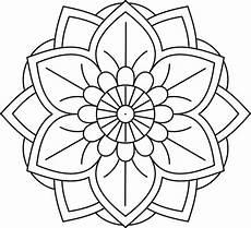 Malvorlagen Blumen Mandala Simple Flower Mandala Coloring Pages Free Printables