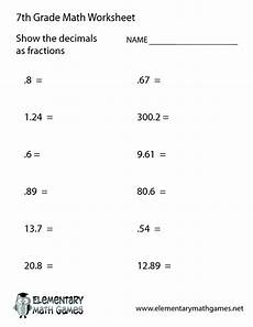 7th Grade Algebra 10 Best Images Of 7th Grade Math Worksheets With Answer
