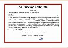 Noc Certificate Format Noc Letter Format In Word File Template Resume