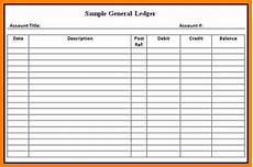 Monthly Ledger 7 Printable General Ledger Ledger Review