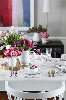 dining room table decorating ideas pictures and colorful easter decorations for your dining room
