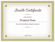 Death Certificate Print Out Sample Death Certificate Templates 13 Free Word Pdf