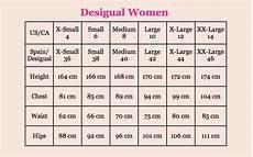 Size Conversion Chart Women S Clothing Desigual Size Guide Canada Fun Fashion