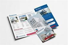 3 Fold Brochure Templates Real Estate Tri Fold Brochure Template Vol 3 Psd Ai