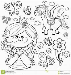 unicorn a flying unicorn with quin baby doll to color