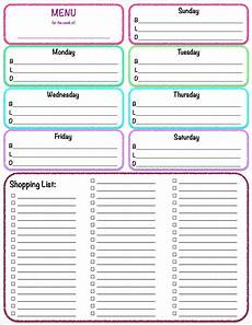 Meal Planning Grocery List Template Free Printables Weekly Meal Planner Amp Grocery List The