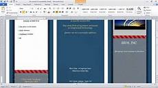 Make A Trifold Brochure In Word How To Make A Brochure In Microsoft Word Youtube