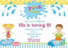 Free Birthday Invitation Template For Kids Free Printable Birthday Pool Party Invitations