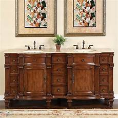 72 inch large sink vanity cabinet with travertine
