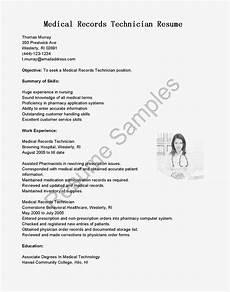 Medical Records Resume Sample Resume Samples Medical Records Technician Resume Sample