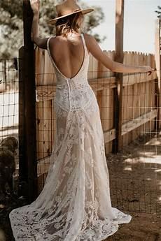 stella lace bohemian wedding dress dreamers and