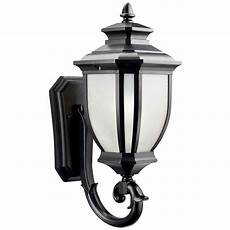 Kichler Outdoor Wall Light Kichler Outdoor Wall Light With White Glass In Black
