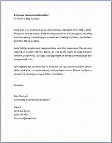 Letter Of Recommendation For Office Manager Recommendation Letter For Employee From Manager Templateral