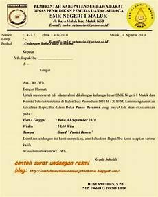 contoh surat undangan resmi sekolah terbaru 2015 berbagi