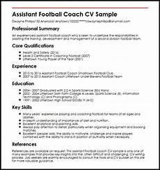 Football Coach Cv Template Assistant Football Coach Cv Sample Myperfectcv