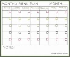 Monthly Plan Template Free Printables From Premeditated Leftovers