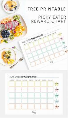 Food Chart For Kids Free Printable Picky Eater Reward Chart Picky Eaters