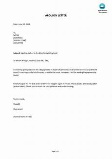 Late Payment Letter Sample Apology Letter To Creditor For Late Payment Templates At