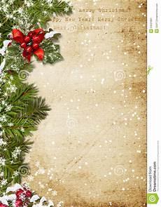 Christmas Letter Backgrounds Vintage Christmas Background Stock Illustration
