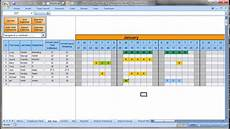 Tracking Calendar Template Annually Employee Leave Record Format In Excel 2016 Youtube