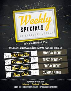 Specials Flyer Template Weekly Special Flyer Design Template In Psd Word