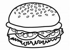 kostenlose malvorlage geburtstag hamburger zum ausmalen