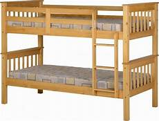 neptune oak bunk bed 163 171 00 bedroom bunk bed mexican