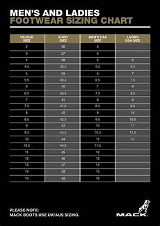 Gumboot Size Chart Sizing Guides Mack