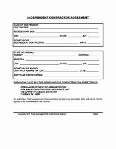 Sample Contract Forms Simple Contractor Agreement Danetteforda