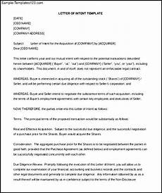Sample Letter Of Intent Doc Buying A Business Letter Of Intent Word Doc Sample