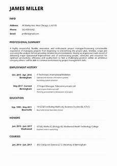 Resume Build Resume Maker Online Create A Perfect Resume In 5 Minutes