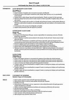 Retail Clerk Resume Resume For A Sales Clerk How To Write A Sales Clerk Job