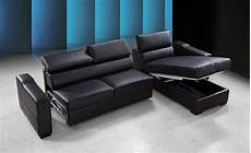 Sectional Sleeper Sofa With Storage 3d Image by Flip Reversible Espresso Leather Sectional Sofa Bed W Storage